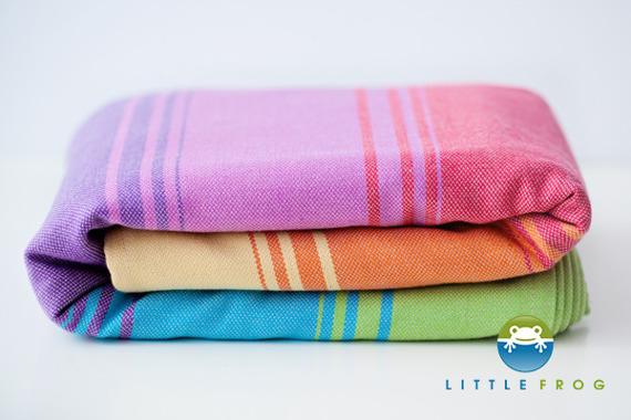 Woven wrap Little Frog - Sandy Agate II 5,2 m /2nd Quality