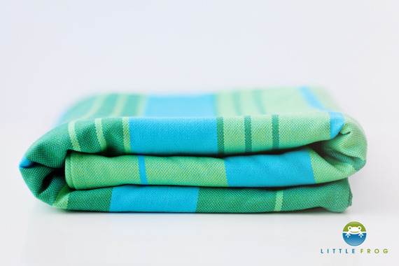 Woven wrap Little Frog - Turquoise 3,6 m